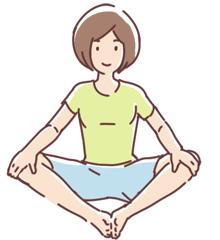膝の快適ストレッチで快適な一歩を。