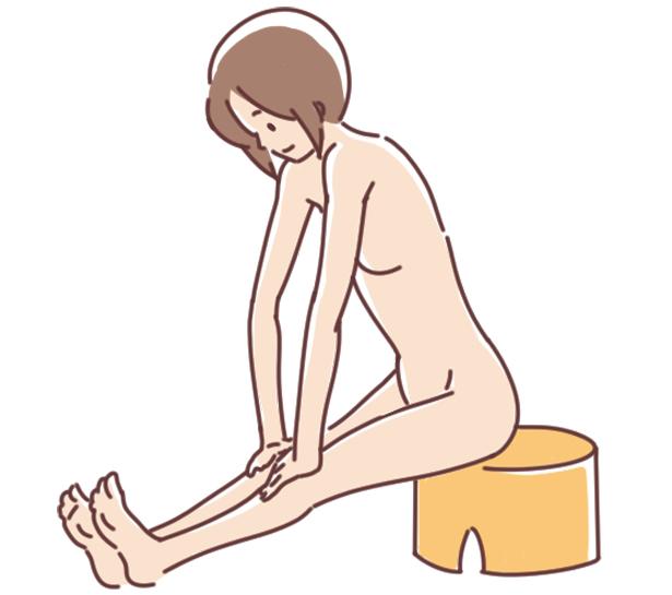 お風呂で効果的にストレッチ